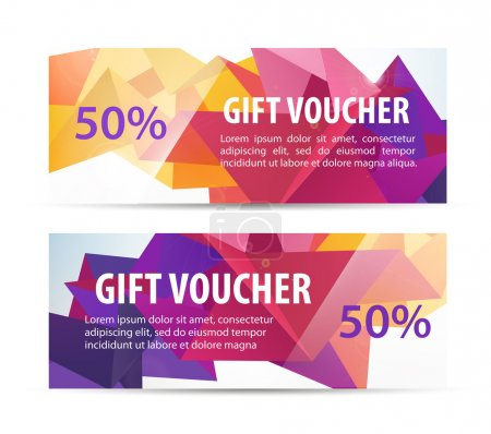 colorful gift faceted vouchers