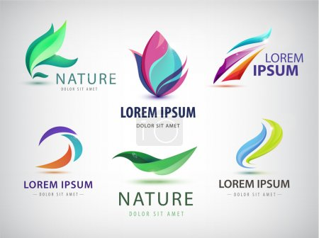 wavy, spa, salon, nature logos