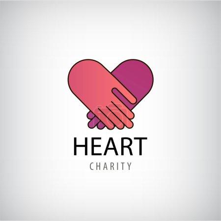 hands logo. Heart Charity