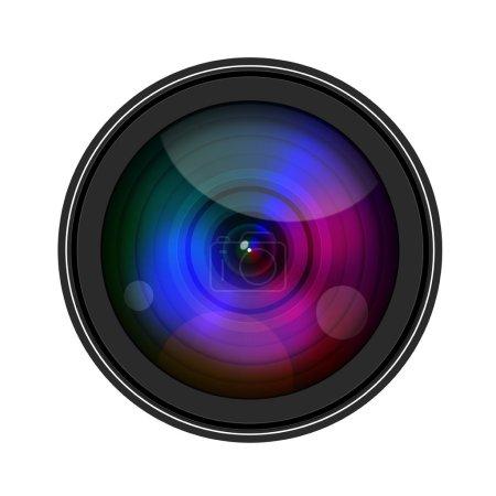 Foto de Lente de cámara aislante sobre fondo blanco - Imagen libre de derechos