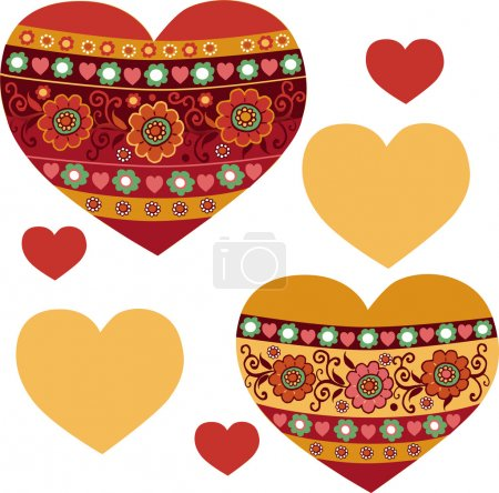 Heart, Valentines. Vector pattern. Suitable for  prints, wallpaper, textiles, scrap-booking, gift wrap .
