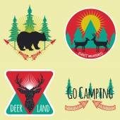 Colored set of camping emblems