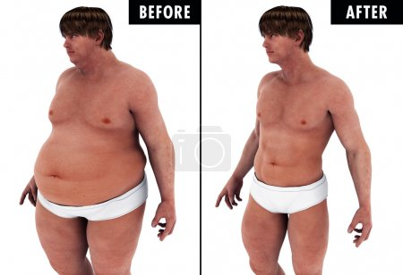 Man Weight Loss Body Transform before and after