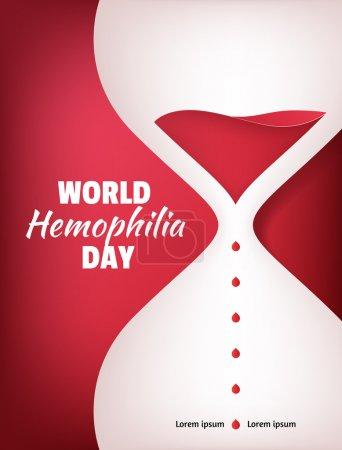 World Hemophilia Day. Liquid sand watch illustration