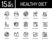 Zdravá strava ikony