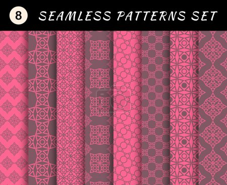 Love seamless patterns set.
