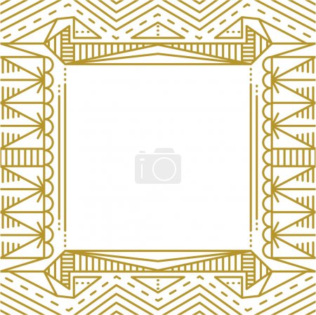 Linear simple frame