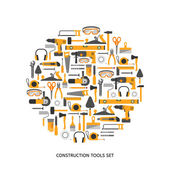 Construction tools icons set