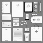 Corporate identity template set Business stationery mock-up with logo Branding design Letter envelope card catalog pen pencil badge paper cup notebook tablet pc mobile phone letterhead