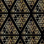 Hipster triangle gold seamless pattern