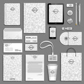 Corporate identity template set Business stationery mock-up with logo
