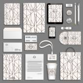 Corporate identity templates set Business stationery mock-up with logo