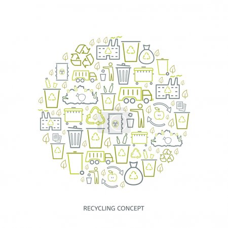 Recycling icon concept