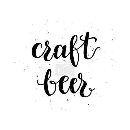 Craft beer label.
