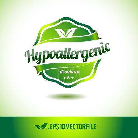 Hypoallergenic badge label seal stamp logo text de...