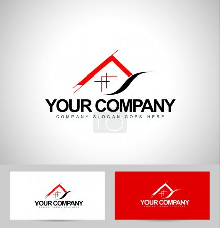 Illustration for House Logo Design. Architecture Concept with business card template.Real Estate icon design. - Royalty Free Image