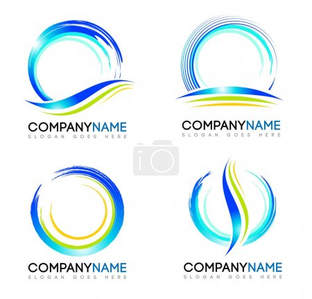 Illustration for Water Splash Logo. Vector design logos with water splash concepts and swashes. - Royalty Free Image