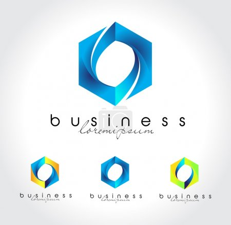 Blue business logo vector