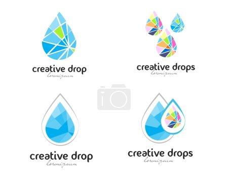 Water drop logo vector