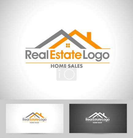 Illustration for Real Estate Logo Design. Creative abstract real estate icon logo and business card template. - Royalty Free Image