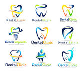 Dental Dentist Logo Set