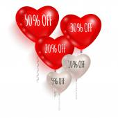 Red and white balloons Sale 01
