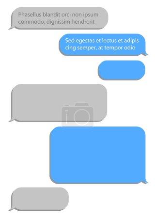 Message Service Flat Bubbles