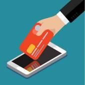 Internet banking in Flat design