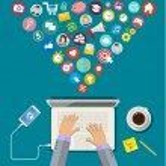 Digital Marketing concept. Flat design, vector ill...