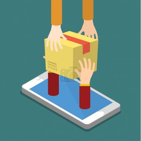 Online shopping concept and fast delivery.