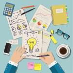 Concepts of idea for business. Flat design illustr...