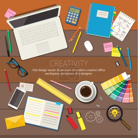 Illustration for Concepts of creativity for business. Flat design illustration - Royalty Free Image