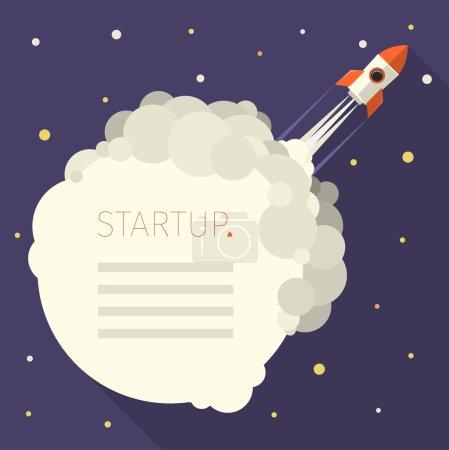 Illustration pour Concept d'illustration vectorielle moderne pour le démarrage de nouveaux projets d'entreprise, le lancement de nouveaux produits ou services - image libre de droit