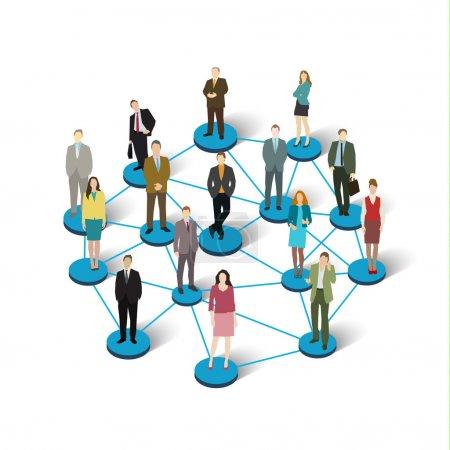 Concept de réseau social .