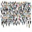 Urban lifestyle concept. A large group of people. ...