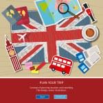 Постер, плакат: Concept of travel or studying English