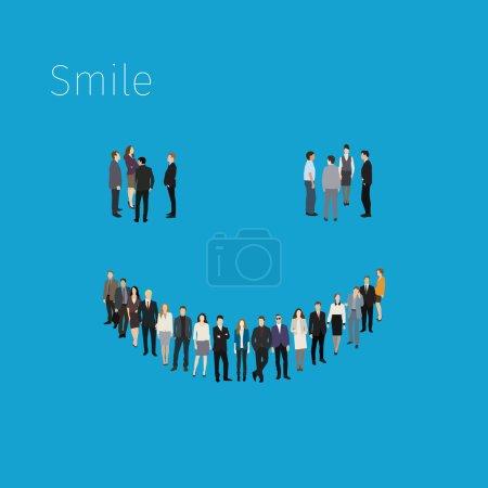 Crowd of smile symbol