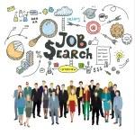 Постер, плакат: Concept of job search