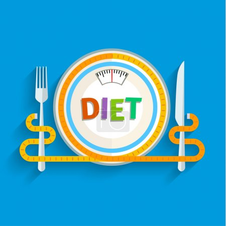 Concept for dieting illustration