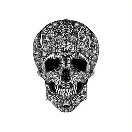 Black and White Tattoo Skull