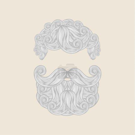 Mustache Beard and Hair Style