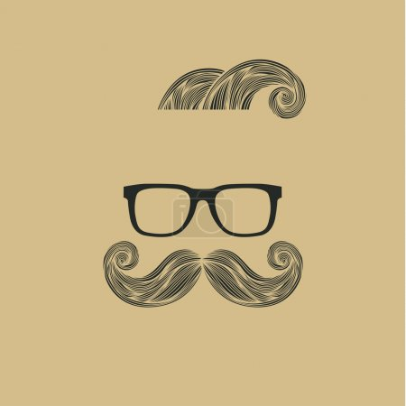 Mustache and Hair Style.