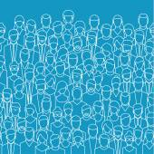 The crowd of abstract people.