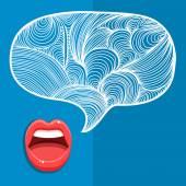 Female lips speak