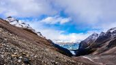 View Lake Louise from the Plain of Six Glaciers in Banff National Park