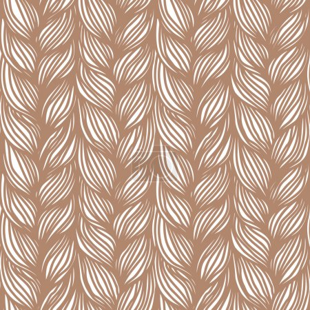 Seamless pattern with braids weaving