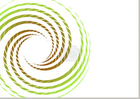 Twisted green circle design element