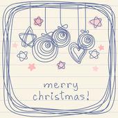 Christmas doodle decoration