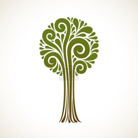 Icon tree of swirl element