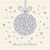 Christmas ball of doodle star